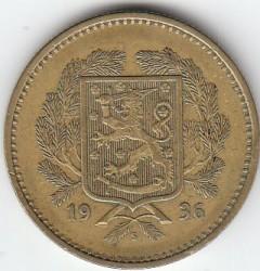 Münze > 10Mark, 1936 - Finnland  - obverse