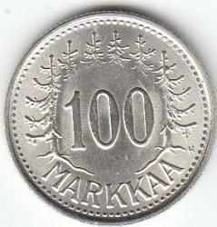 Moneta > 100markių, 1956-1960 - Suomija  - reverse