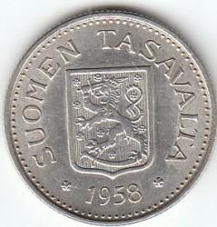 Münze > 100Mark, 1958 - Finnland  - obverse