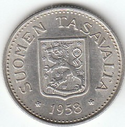 Münze > 100Mark, 1958 - Finnland  - reverse