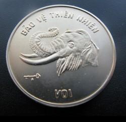 Moneta > 10dong, 1986 - Vietnam  (Nature– Elephant) - reverse