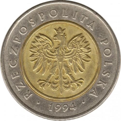 Ценость 5 злотых 1994года сколько стоит юбилейная монета 10
