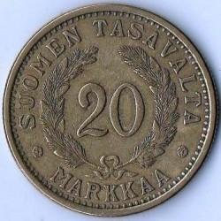 Münze > 20Mark, 1935 - Finnland  - reverse