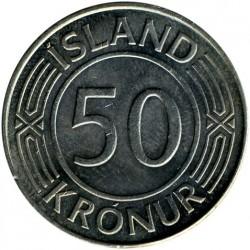 Münze > 50Kronen, 1970-1980 - Island   - reverse