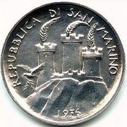 Moneta > 500lire, 1976 - San Marino  (12° anniversario - Introduzione del sistema di sicurezza sociale) - obverse