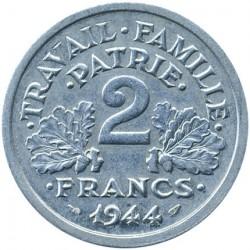 سکه > 2فرانک, 1943-1944 - فرانسه  - reverse