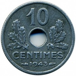 Monedă > 10centime, 1943-1944 - Franța  - obverse