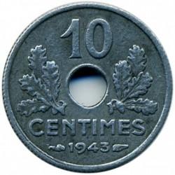 Monedă > 10centime, 1943-1944 - Franța  - reverse