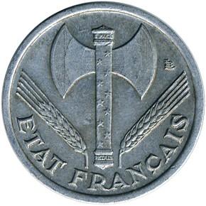 etat FRANCE  WW2  50 centimes BAZOR  ETAT FRANCAIS  1942