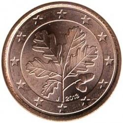 Монета > 1євроцент, 2013 - Німеччина  - obverse