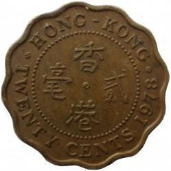 Coin > 20cents, 1978 - Hong Kong  - reverse