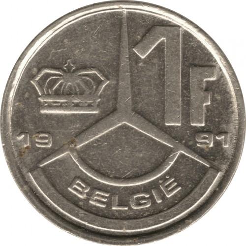 BELGIUM   1 Franc   1989   FLEMISH   UNC  *