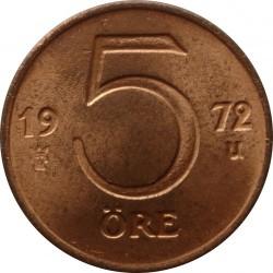 Münze > 5Öre, 1972-1973 - Schweden   - reverse