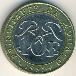 Moneta > 10franków, 1989-2000 - Monako  - obverse