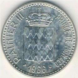Moneda > 10francos, 1966 - Mónaco  (110 aniversario - Ascensiòn del Príncipe Carles III) - obverse