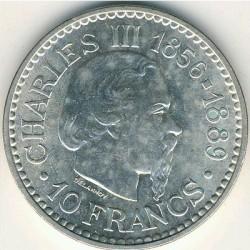 Moneda > 10francos, 1966 - Mónaco  (110 aniversario - Ascensiòn del Príncipe Carles III) - reverse