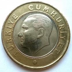 Coin > 1lira, 2009-2019 - Turkey  - obverse