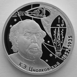 Монета > 2рубля, 2007 - Россия  (150 лет со дня рождения Константина Циолковского) - reverse