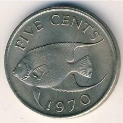 Pièce > 5cents, 1970-1985 - Bermudes  - reverse