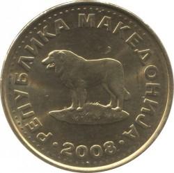 Monedă > 1denar, 1993-2014 - Macedonia  - obverse