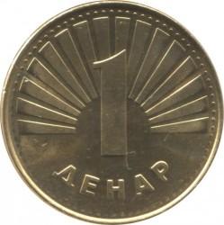 Coin > 1denar, 1993-2014 - Macedonia  - reverse