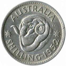 Moneda > 1chelín, 1950-1952 - Australia  - reverse