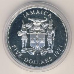 Moneta > 5dollari, 1971 - Giamaica  (Primo Premier della Giamaica - Norman W. Manley) - obverse