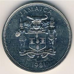 Moneta > 20centesimi, 1981 - Giamaica  (FAO - Giornata mondiale dell'alimentazione del 16 Ottobre 1981/lettering JAMAICA stretto/) - obverse