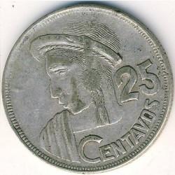 Moneta > 25centavos, 1950-1959 - Gwatemala  - reverse