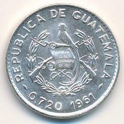 Moneta > 10centavos, 1960-1964 - Guatemala  - reverse