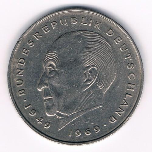 2 Mark 1969 1987 Konrad Adenauer Deutschland Münzen Wert