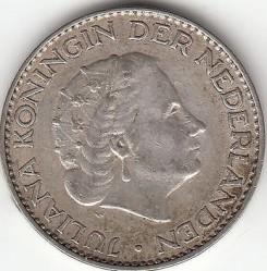 Coin > 1gulden, 1958 - Netherlands  - obverse
