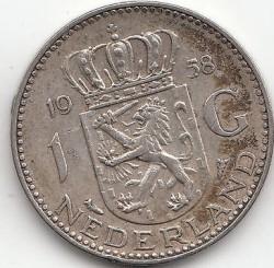 Coin > 1gulden, 1958 - Netherlands  - reverse
