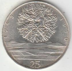 Moneta > 25corone, 1970 - Cecoslovacchia  (25° anniversario - Liberazione della Cecoslovacchia) - reverse