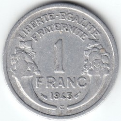 Coin > 1franc, 1945 - France  - obverse
