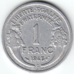 Coin > 1franc, 1945 - France  - reverse