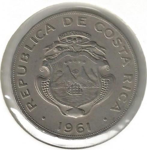Coin 1 Colón 1961 Costa Rica Obverse