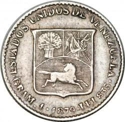 Монета > ⅕боливар, 1879 - Венецуела  - obverse