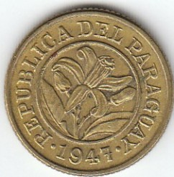 Moneta > 10centesimi, 1944-1947 - Paraguay  - reverse