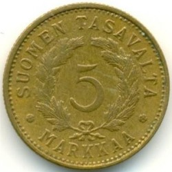 Münze > 5Mark, 1951 - Finnland  - reverse
