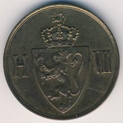 Moneda > 5ore, 1907 - Noruega  - obverse
