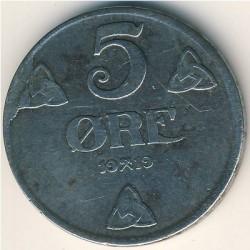 Moneda > 5ore, 1917-1920 - Noruega  - reverse