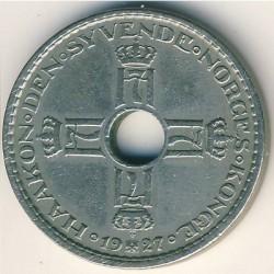 Moneda > 1krone, 1925-1951 - Noruega  - obverse