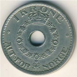 Moneda > 1krone, 1925-1951 - Noruega  - reverse