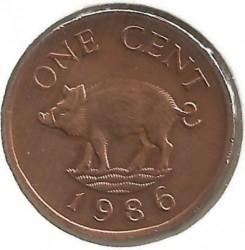 Monedă > 1cent, 1986-1990 - Bermude  - reverse