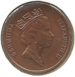 Кованица > 1цент, 1986-1990 - Бермуда  - reverse