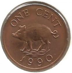 Pièce > 1cent, 1986-1990 - Bermudes  - reverse