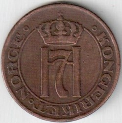 Coin > 5 ore, 1908-1952 - Norway  - reverse