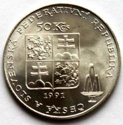 Moneta > 50corone, 1991 - Cecoslovacchia  (Karlovy Vary) - obverse