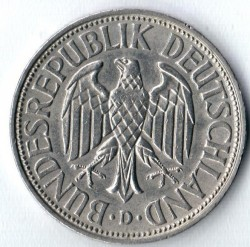 Coin > 1 mark, 1965 - Germany  - obverse